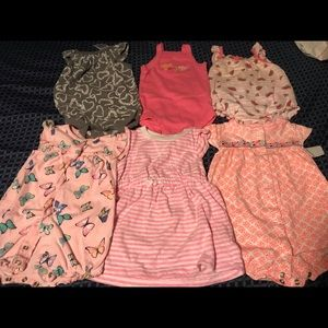 Bundle of 6 Rompers size 6 Months